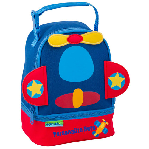 Personalized Boys Lunchbox, Stephen Joseph Personalized Airplane Lunch Bag
