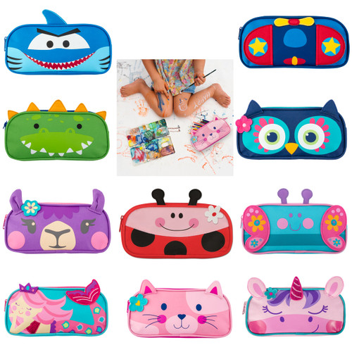 personalized Kids Pencil Pouch , Back to School Pencil bags cats, sharks, unicorns, lady bugs
