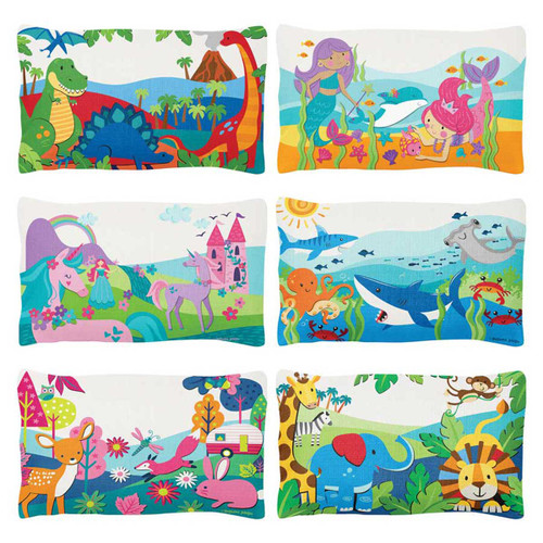 Personalized Pillows for kids, bright colors Sharks, Unicorns,Mermaids