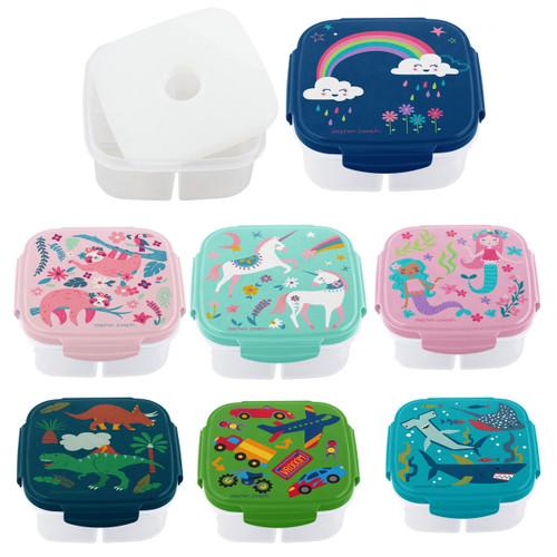 snack boxes ice insert, shark snack box, unicorn snack box, rainbow snack box , Stephen Joseph snack boxs