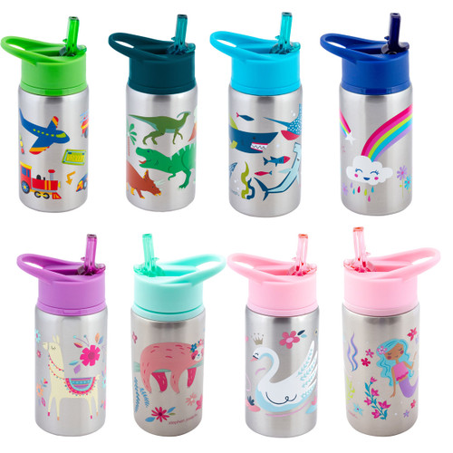 stainless steel kids flip top drink bottles