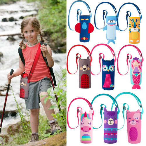 Kids Water Bottle  Holder By Stephen Joseph -plastic bottle carrier