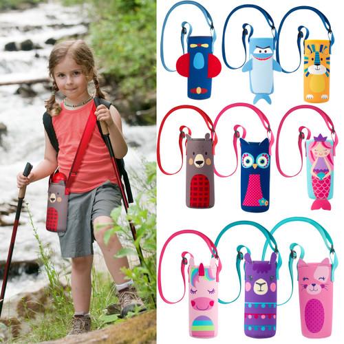 Kids Water Bottle  Holder By Stephen Joseph -plastic bottle carrier