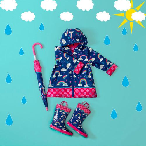 Rain Coat Rainbow design for kids