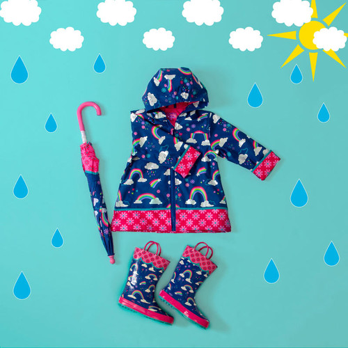 Rain Coat Rainbow design for kids