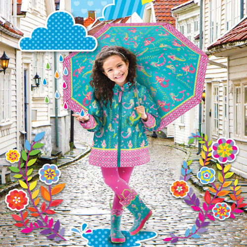 Mermaid Rain Jacket set  mermaid umbrella and mermaid rain boots