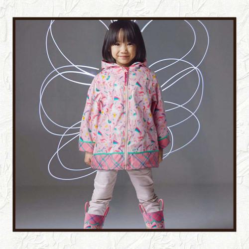UNICORN  RAIN COAT FOR LITTLE GIRLS, Personalized Children's Rain Coat