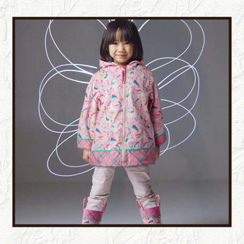 UNICORN  RAIN COAT FOR LITTLE GIRLS, Personalized Children's Rain Coat