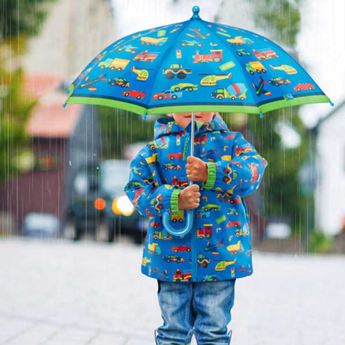 Transportation Rain Coat set for Boy personalized kids rain coat