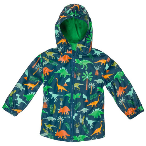 Dino boys rain jacket for kids
