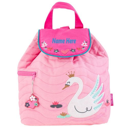Quilted Swan Backpack for little Girls