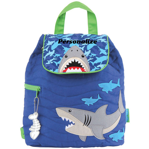 personalized quilt shark backpack