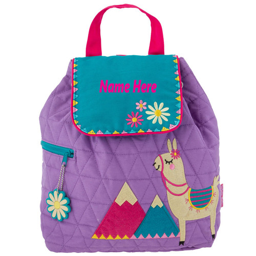 Personalized Quilted Llama Backpack