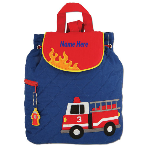 Personalized Fire Truck Backpack