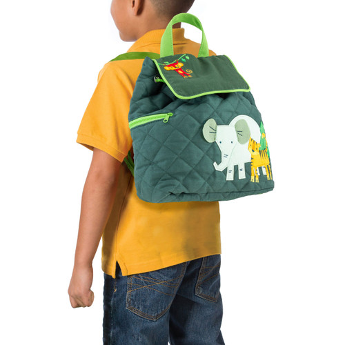 Zoo Themed Backpack quilted backpack by Stephen Joseph Perfect for little boys 3-5 years old.