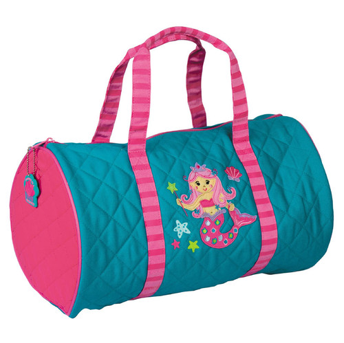 Personalized duffel for little girls mermaid design
