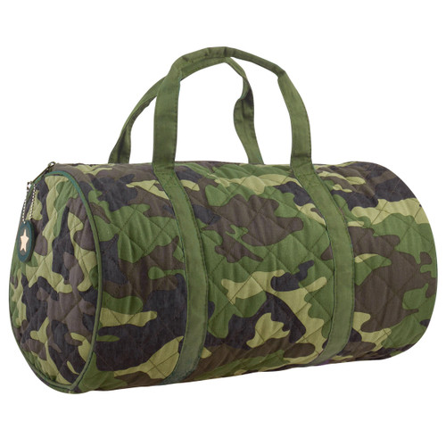 camo duffle bag quilted duffle bag for kids by Stephen Joseph