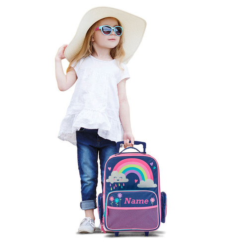 Child's rolling suitcase, Rainbow suitcase by Stephen Joseph