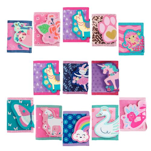 Girls wallet mermaid wallets, treats wallet, ballet wallet, flamingo wallet child's wallets