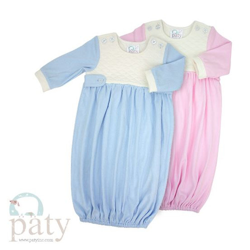 Paty Baby Clothing, Baby gowns monogrammed coming home outfit.