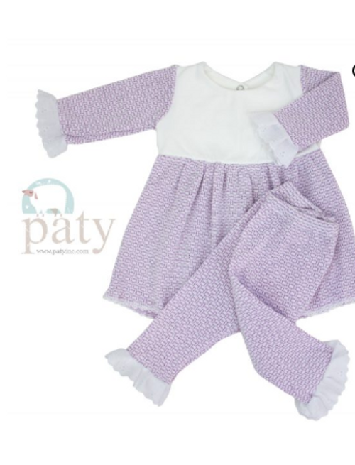 Lavender Paty Knit , Special Occassion clothing for little girls,