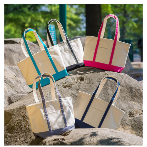 Canvas boat totes, high end totes