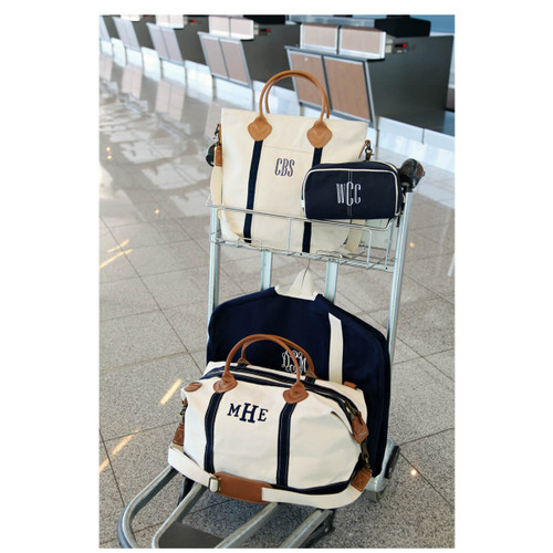 Monogrammed Weekend Heavy canvas Overnight Bag