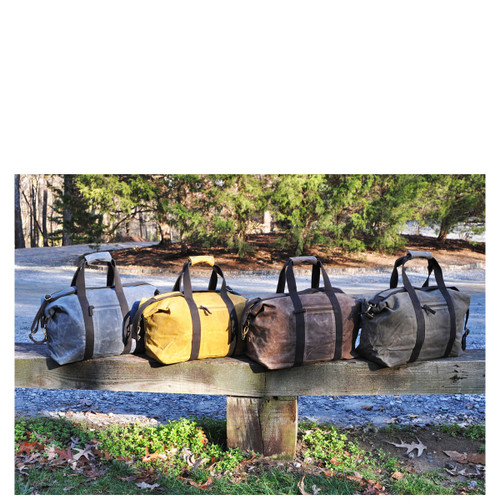 Waxed Canvas men's monogrammed weekenders