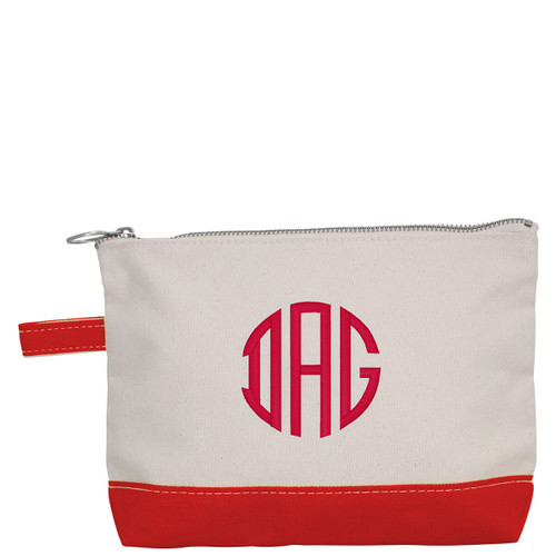Red Personalized Makeup Bag for for bridemaids