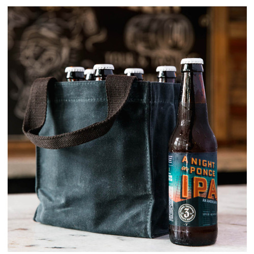 Monogrammed Beer bottle  Tote with Divider