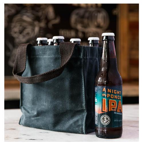 Monogrammed Beer bottle  Tote with Divider