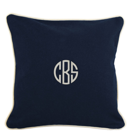 Monogrammed Pillow case 16 x 16
