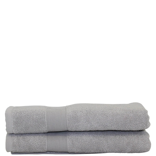 Monogrammed Gray Hand Towels