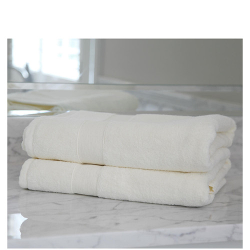 Ivory Mon0grammed Bath Sheets