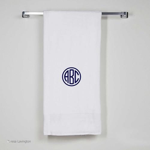 Monogrammed Bath Sheet