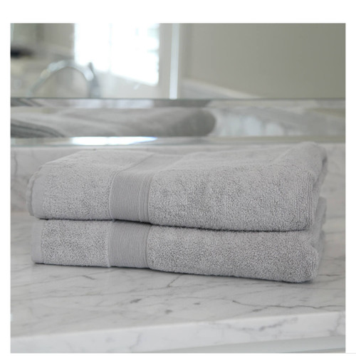 Monogrammed Bath Sheet gray