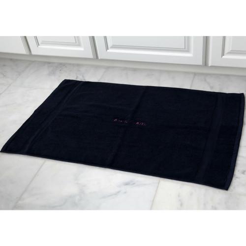 Monogrammed Navy Bath Mat
