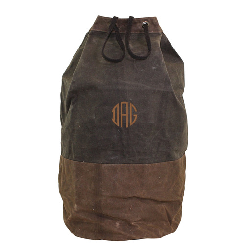 Monogrammed Laundry Duffel waxed Canvas