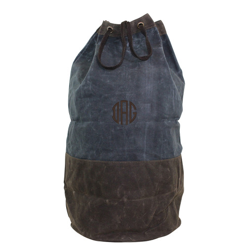 Waxed Canvas Monogrammed Duffel