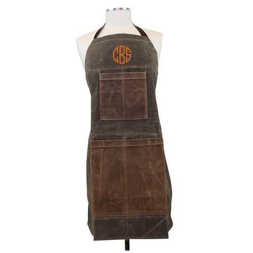 Personalized Waxed Canvas Apron