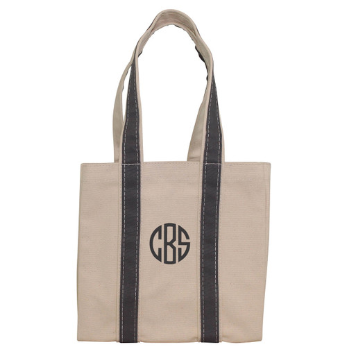 Monogrammed Wine Tote Carries 4 bottle of wine -Gray