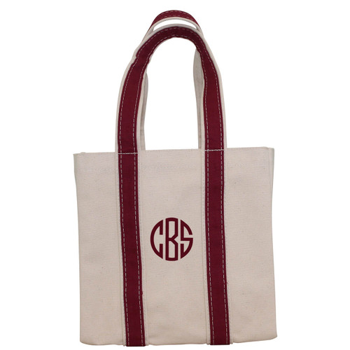 Four Bottle Wine Tote-Maroon