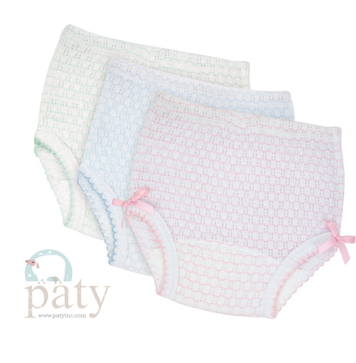 Paty Knit Bloomers, For little girls diaper cover