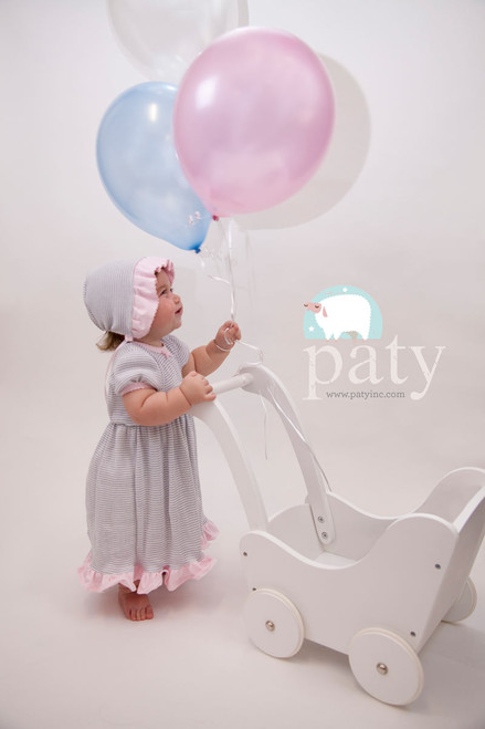 Monogrammed Paty inc. Baby Dress with Diaper Cover