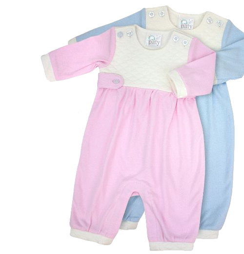 Jacquard Baby Romper By Paty Inc. Monogrammed