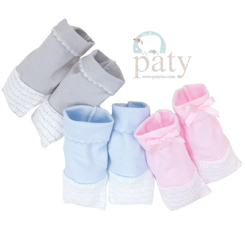 Paty Inc. Newborn baby booties home coming outfits