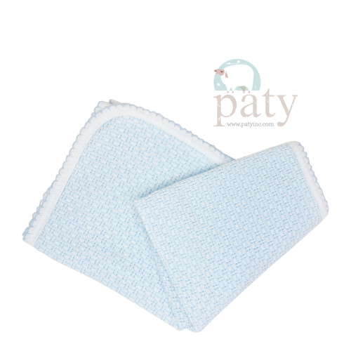 Paty Knit baby Blanket Monogrammed