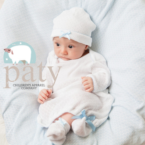 Coming home outfit for newborn made by Paty Inc. Paty Knit