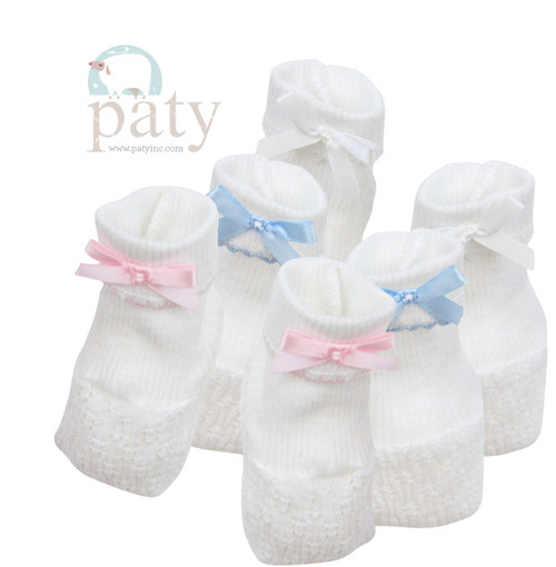 Paty Knit Newborn Baby Booties for Homecoming Outfit