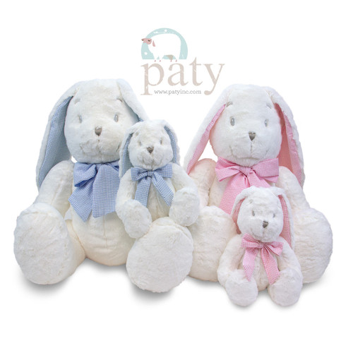 Personalized Bunnie, Personalize by adding a name to the long bunny ear, Small Paty Bunny